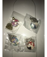 Lot of 4 Pokemon Go Necklace Mewtwo Glass Art Pendant Gift  Color Detail... - $16.82