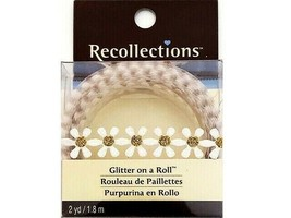 Recollections Glitter on a Roll Tape, White Daisies with Gold Centers #207275