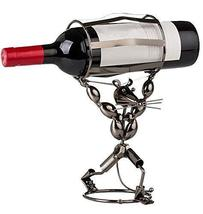 Wine Holder Stainless Steel Wine Rack Modern Metal Wine Rack Animal - $43.17
