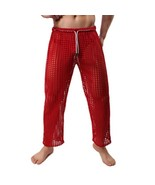 Men's Sexy Pants Fashion Brand Men Sexy Fishnet Lounge Pants Sleepwear/G... - $23.78