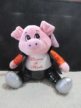 "Sugar Loaf Plush Stuffed Pig ""Born to Ride"", New with Tag - $12.95"