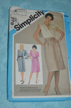 Simplicity 6488 Misses' Mock Wrap Dress and Tie Belt Sewing Pattern Size... - $3.00