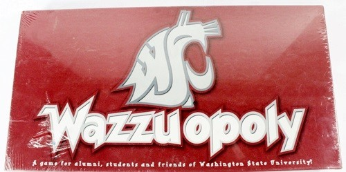 Wazzuopoly Board Game Washington State University personlized monopoly