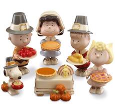 Lenox Peanuts Thanksgiving Pilgrim Figurines 6 PC. Charlie Brown Lucy Sn... - $106.90