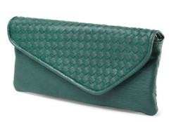NWT Urban Expressions Mindy  Vegan Faux Leather Clutch With Strap Green ... - $20.57