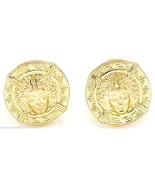 "Medusa Earrings New Pendant Head Post Greek Egyptian Stud Style 5/8"" Dia... - $11.90"