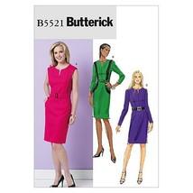 Butterick Patterns B5521 Misses' Dress and Belt, Size AA (6-8-10-12) - $11.27