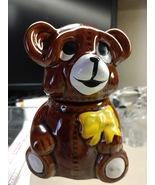 Honey Bear Honey Jar with Honey Wand Vintage Houston Foods 1982 Advertis... - $19.99