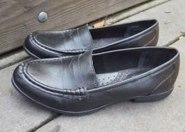 Boc Born loafers 6 black vegan faux leather moc toe - $28.04