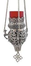 Hanging Engraved Nickel Plated Christian Vigil Lamp (9395 ?) - $83.73
