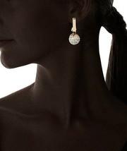 Grande Daniela Swaebe 18K Placcata Oro Disco Diva Rettangolo Orecchini a Goccia image 2
