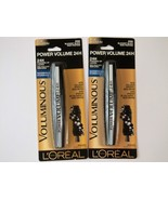 2 L'Oreal Voluminous Power Volume 24H WATERPROOF Mascara 'Blackest Black' #696 - $9.82