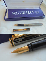 WATERMAN GRADUATE fountain pen in darkened steel In gift box with garantee - $34.00