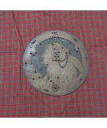 """Large (18"""") Round Pyrography Native American Female Indian Plaque, Flemi... - $172.98"""