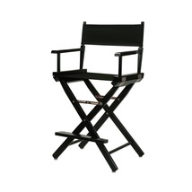 "Casual Home 24"" Director's Chair Black Frame-with Black Canvas, Counter ... - $94.67"