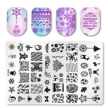 15*9cm Xmas Snowman Snowflake Nail Art Stamper Stamping Plates Polish St... - $13.50