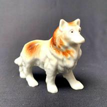 Vintage Dog Collie Porcelain Figurine Japan - $24.75
