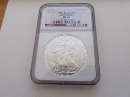 2006 , Silver Eagle , NGC , MS 69 , First Strikes - $75.00