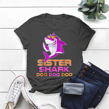 Retro Sister Shark For Mother Mama Mom T- Shirt Birthday Funny Ideas Gif... - $15.99+