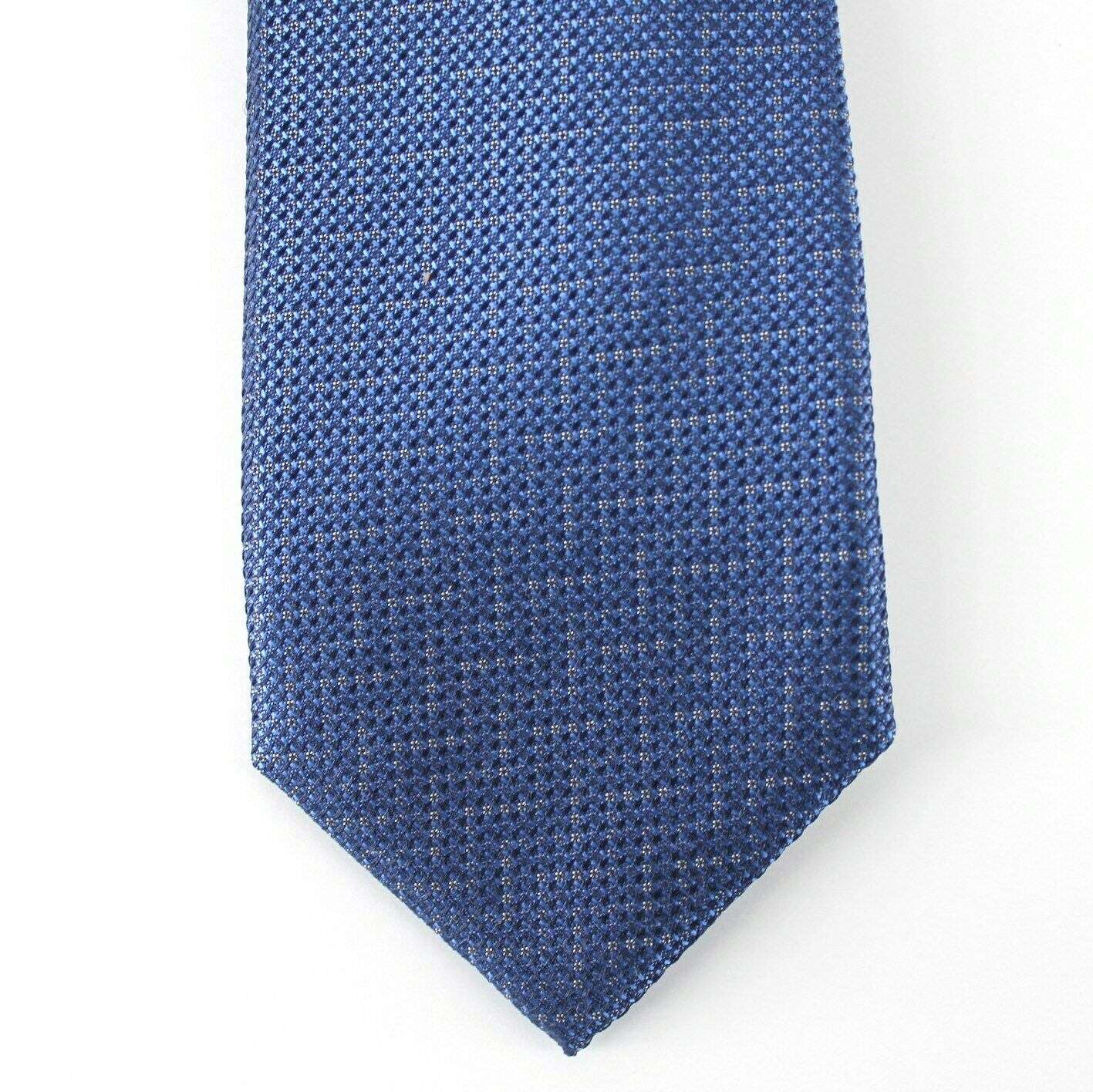 Alfani Neck Tie Blue Cleveland Abstract 100% Silk Slim Skinny Mens New