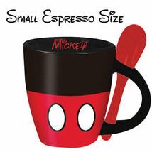 Mickey Mouse Mini Espresso Cup With Spoon Black - $17.98