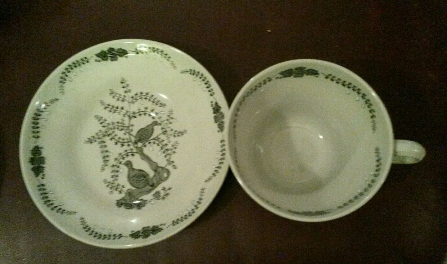 Wedgwood of Etruria & Barlaston Partridge in a Pear Tree Cup & Saucer Set
