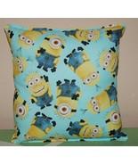 Minion Pillow HANDMADE In USA Teal Minion Pillow New - $9.99