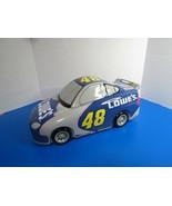 "Nascar 2004 Jimmie Johnson Ceramic Cookie Jar Lowes #48  14""L Race Car - $30.00"