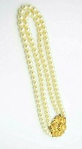 Sarah Coventry 3 in 1 Faux Pearl Multi- Strand Brooch Necklace Choker Vi... - $24.74