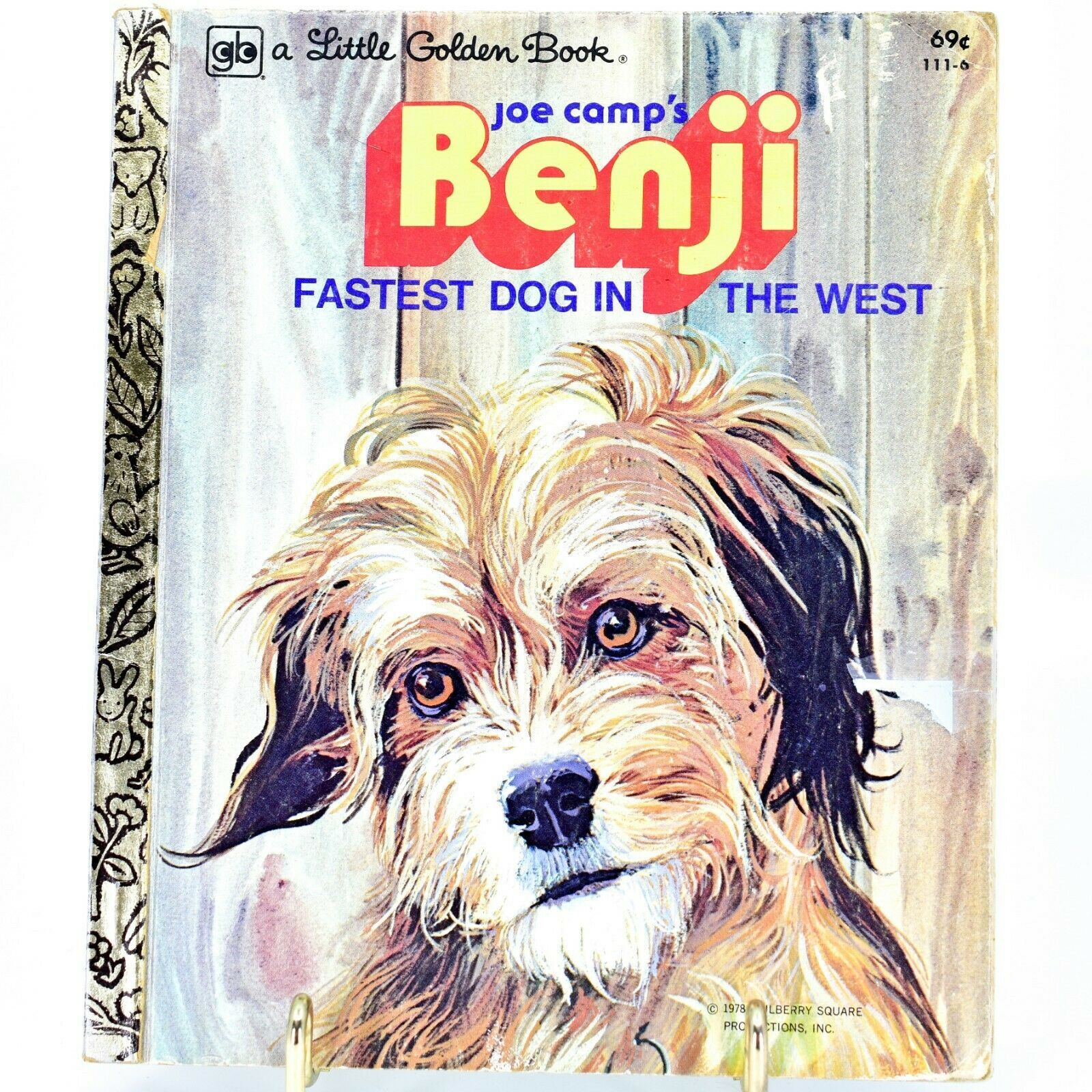 A Little Golden Book Joe Camp's Benji Fastest Dog in the West 111-6 2nd Printing