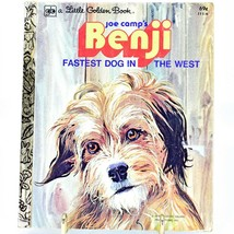 A Little Golden Book Joe Camp's Benji Fastest Dog in the West 111-6 2nd Printing image 1