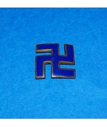 RARE ORIGINAL WW2 BLUE ENAMEL NAZI SWASTIKA BADGE - $40.00