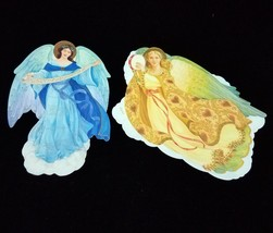 Vtg Set of 2 Hallmark Robert Haas Angel Series Christmas Cards Envelopes... - $29.59