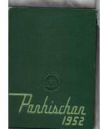 School Yearbook -- PARHISCHAN, Parkersburg High School, WV -- 1952 Edition - $15.00