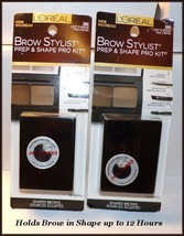 NEW Loreal Brow Stylist Prep & Shape Pro Kit/Compact   Light to Medium #... - $7.95