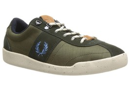 Fred Perry Nylon/Suede Men's Trainers Shoes in Hunting Green B6207 - $51.52