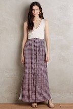 NWT ANTHROPOLOGIE ELYSIAN COLORBLOCKED MAXI DRESS by MAEVE L - $75.99