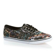 New Vans Authentic Lo Pro City Black True White Shoes Womens 8 Mens 6.5 Vault - $59.80