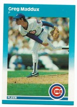 1987 Fleer #U-68 Greg Maddux XRC, Chicago Cubs - $3.60