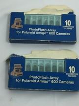 2 GE PhotoFlash Array for Polaroid Amigo 600 Camera Flash Vintage 26164 - $59.39