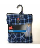 Hanes Woven Pajama Set Size 2XL Plaid Long Sleeve Long Leg New - $28.59