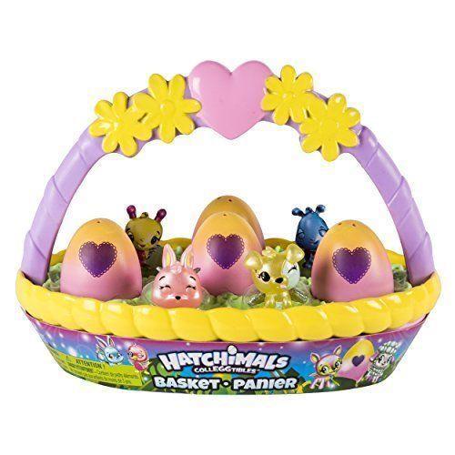 VHTF Hatchimal CollEGGtibles Spring Easter Basket 6 Hatchimals -4 Exclusive Eggs
