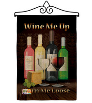 Wine Me Up, Turn Loose Burlap - Impressions Decorative Metal Wall Hanger Garden  - $33.97