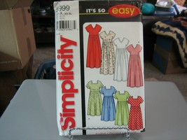 Simplicity 5999 Misses Pullover Dress in 2 Lengths Pattern - Size XS (6-8) - $6.92