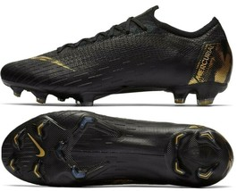 NIKE MERCURIAL VAPOR 12 ELITE FG BLACK/GOLD SIZE 11 BRAND NEW $250 (AH7380-077) image 1