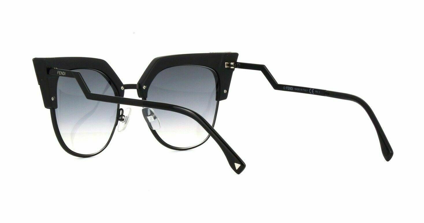 NEW FENDI IRIDIA FF 0149/S Black/Grey Shaded (807/9O B) Sunglasses image 3