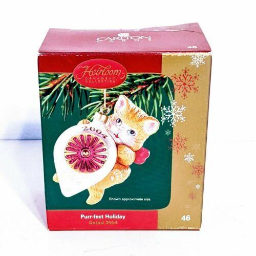 Carlton Cards 2004 Ornament Purr-Fect Holidays Orange Tammy Cat Christmas - $10.69