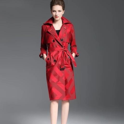 Laid pattern belt button waist slim coat female.jpg 640x640 5f818b73 15bd 4e88 8787 4c7f00013b9f