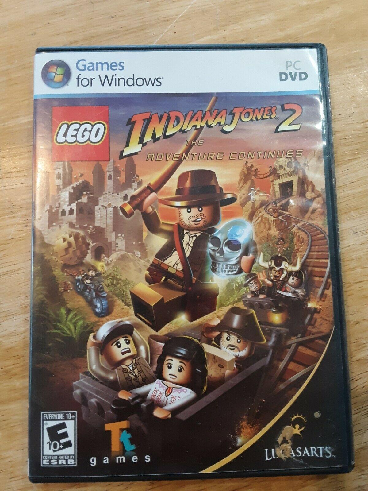 LEGO Indiana Jones 2: The Adventure Continues (PC, 2009) w Case - $7.91