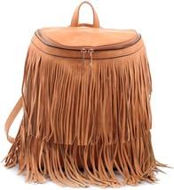 Dasein Fringe Top Flap Zipper Fashion Backpack - $48.83